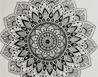 Original Handmade Mandala Illustration