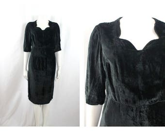 1940's Silk velvet Dress