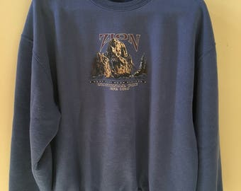 Vintage Zion National Park sweatshirt XL