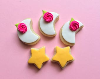 "1.5"" Moons & Stars Sugar Cookies"