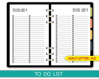 To do list Printable, Checklist, Half Letter size, It's on the list #half004