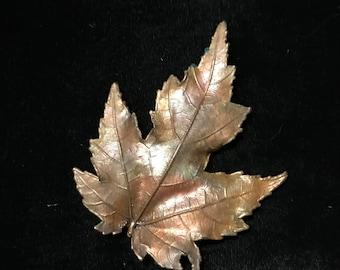 Vintage leaf pin.