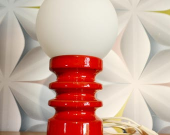 Vintage space Age lamp 70s white/holidays