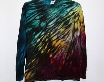 Tie Dye Shibori Long Sleeve T Shirt Adult Sizes