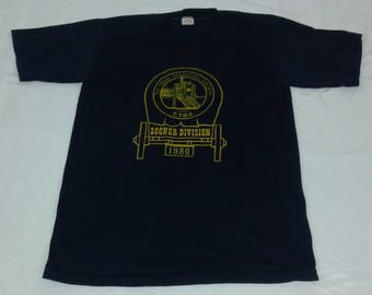 Vintage  1980 Sportswear 50/50 Toy Train Operating Society Graphic tshirt size M