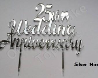 Wedding Anniversary Cake Topper Milestone Acrylic Cake Decoration