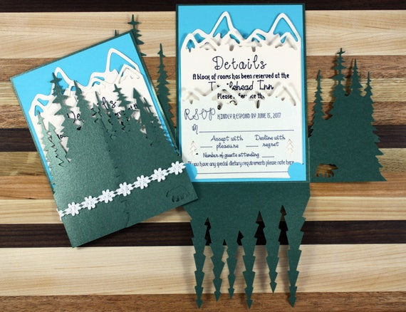 Woodlands Wedding Invitation Suite - Sample