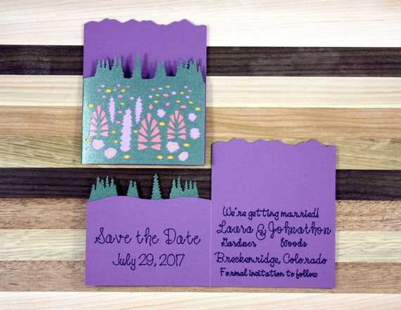 Wildflower Mountain Wedding Save the Date
