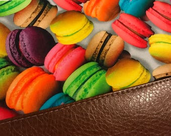 Macaroons Clutch with Faux Leather