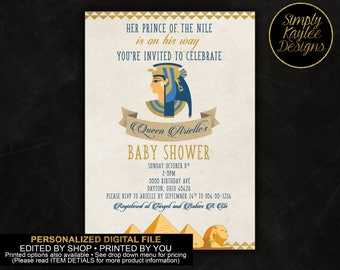 Egyptian Prince Baby Shower Invitation
