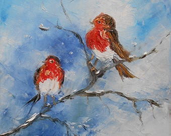 """Painting """"In the hearth of the winter """""""