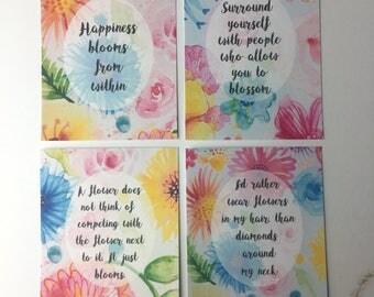 Secret Garden - journal cards