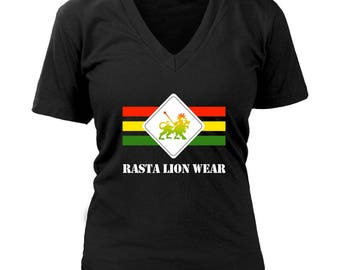Rasta Lion Wear Original women's v-neck RLW535