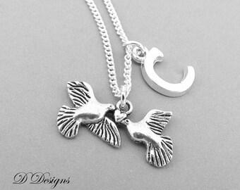 Dove Necklace, Dove Pendant, Turtle Doves Necklace, Personalised Dove Jewellery, Personalised Dove Necklace, Dove Gifts