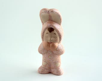 Ceramic Baby in Bunny Suit
