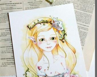Art print Fairy lace - art print