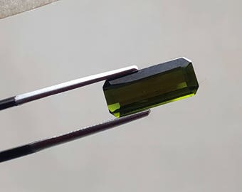 WOW 2.90 Carat Green color loose tourmaline gemstone from@ Afghanistan 13*6*4mm (7)