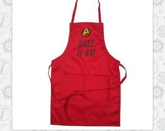 Bake it so! Star Trek Inspired Apron
