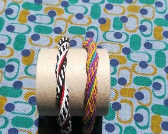 Round spiral beaded bracelets