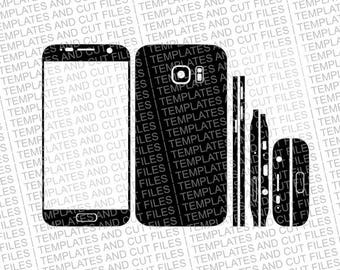 Samsung Galaxy S7 Skin template for cutting or machining - Digital Download for plotters, CNCs, Laser cutters, Silhouette Cameo, Cricut, etc
