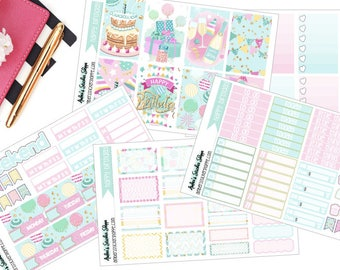 Happy Birthday Weekly Kit for Happy Planner Planner Stickers