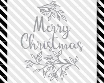 Christmas SVG Cut File - Merry Christmas svg - Christmas svg file- Christmas vector - christmas svg -Merry Christmas cut file -Farmhouse svg