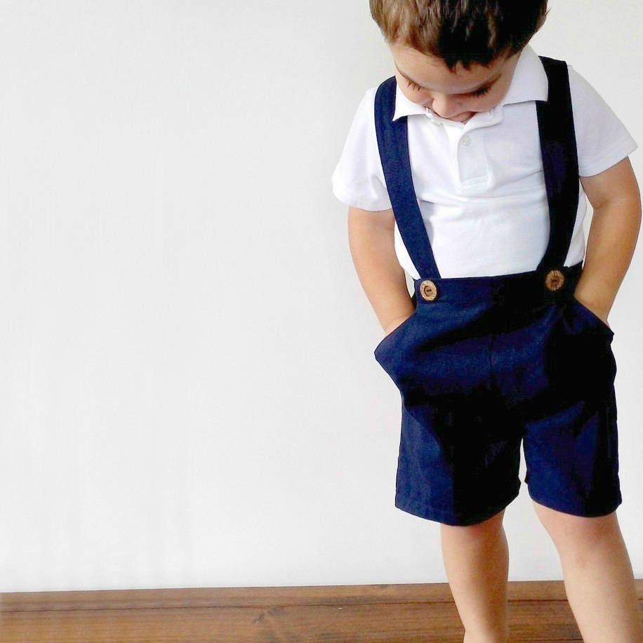 Boys Pants With Suspenders Toddler Shorts With Braces Boys