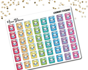 Laundry planner stickers Washing machines