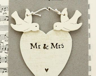 Mr & Mrs Heart with Doves