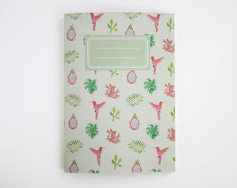notebook tropical blanco - notebook A5 - blanc notebook - jotter blanc