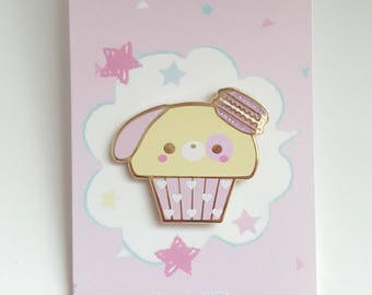 Kawaii Lulu Puppy Cupcake Enamel Pin/lapel pin