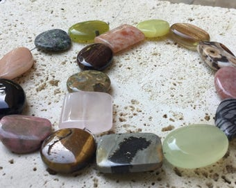 Mixed Stone Assortment - Puff Oval, Round and Rectangle Combo