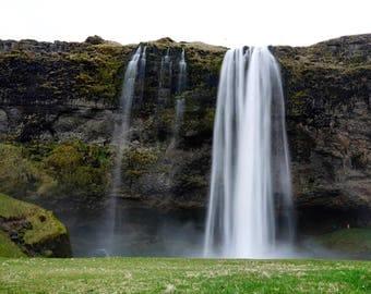 Travel Photography, Iceland Photography, Waterfall Photography, Icelandic Art, Skogafoss Photography, Landscape Photography, Nature Photo