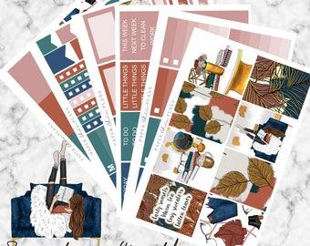Sweater Weather | Planner Stickers MATTE | Erin Condren Vertical Weekly Planner Kit