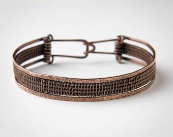 Copper Bracelet - Woven Wire Bracelet - Copper Jewelry