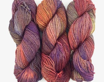 Malabrigo Dos Tierras Archangel 850 Baby Alpaca & Superwash Merino Wool DK Weight Yarn Kettle-Dyed Wool 210 Yds Multi Color Merino Alpaca DK
