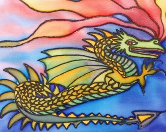 Silk painting of Dragon