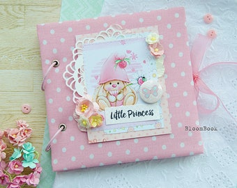 Baby Girl Mini Album, Baby Girl Photo Album, Personalized Baby's Photo Album, Baby Girl Photo Memory Book, Keepsake Baby Album, Cute Album