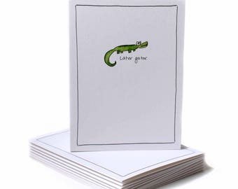 Later Gator Just Because Greeting Card