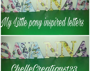 My little pony letters