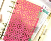 Personal Planner Dividers (different tabs)  || Pink & Green | Planner Tabs ||Planner Bookmarks||Planner Dividers