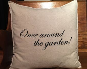 Once Around The Garden 18x18 Pillow Case
