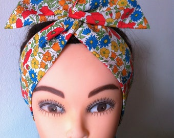 Handcrafted Liberty of London fabric wired headband