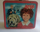 1981 Used Vintage Annie Metal Aladdin Lunchbox No Thermos Collectors Item