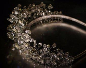 Unique Handmade Princess Crown, Tiara, Wedding Tiaras,Princess,Crystal Silver Tiara,Queen,Luxury Wedding,Crown with Crystals,Bridal