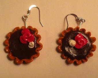 Chocolate pie earrings