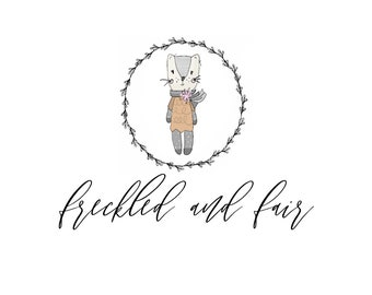 PREMADE baby shop logo, doll shop logo, sewing logo, knitting logo, crochet logo