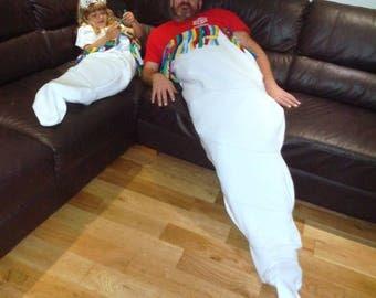HALF PRICE Unicorn Horn - Large Snuggle Blanket~ Lapghan~ Lap Blanket~ Snuggle Sack ~ Sofa Blanket ~ Fleece  ~  - Unicorn Blanket