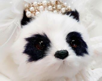 Brooch Panda Princess