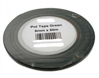 50m 6mm Floristry Green Tape - Pot Tape - Floral Crafts - Florist Tape